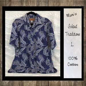 Island Traditions Of Hawaii Short Sleeve Shirt Men
